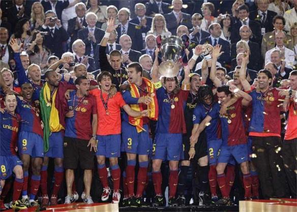 Lo han ganado todo: campeones de liga, copa del rey y copa de europa