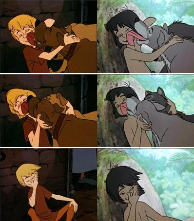 Merlin El Encantador (1963)   vs    El Libro de la Selva (1967)