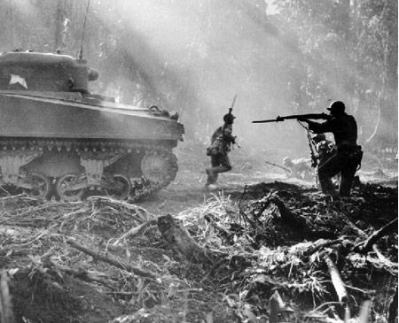 escena guerra tanque
