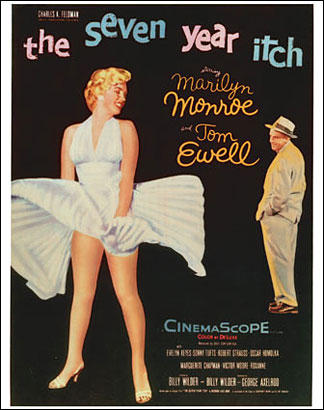 "Marilyn Monroe in ""The Seven Year Itch"""