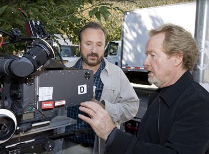 Tony y Ridley Scott en pleno curro