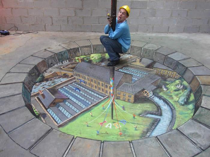 Arte de la perspectiva/Ilusiones ópticas Julian-beever-barra